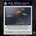 Alien Abduction UFO Decal Sticker Glitter Sparkle 120x120