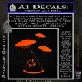 Alien Abduction UFO Decal Sticker Orange Emblem 120x120