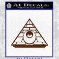 All Seeing Eye Illuminati Freemason Decal Sticker BROWN Vinyl 120x120