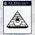 All Seeing Eye Illuminati Freemason Decal Sticker Black Vinyl 120x120