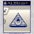 All Seeing Eye Illuminati Freemason Decal Sticker Blue Vinyl 120x120