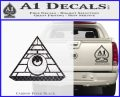 All Seeing Eye Illuminati Freemason Decal Sticker Carbon FIber Black Vinyl 120x97