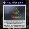 All Seeing Eye Illuminati Freemason Decal Sticker Glitter Sparkle 120x120
