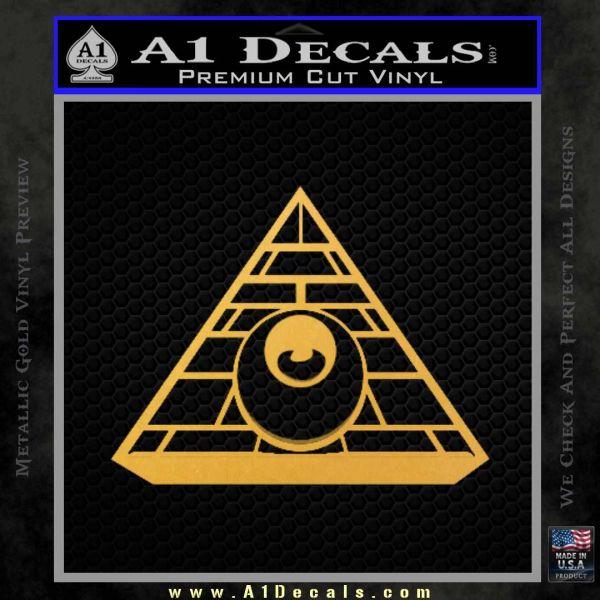 All Seeing Eye Illuminati Freemason Decal Sticker Gold Vinyl