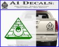 All Seeing Eye Illuminati Freemason Decal Sticker Green Vinyl Logo 120x97