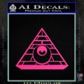 All Seeing Eye Illuminati Freemason Decal Sticker Pink Hot Vinyl 120x120