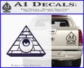 All Seeing Eye Illuminati Freemason Decal Sticker PurpleEmblem Logo 120x97