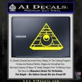 All Seeing Eye Illuminati Freemason Decal Sticker Yellow Laptop 120x120