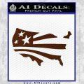 America American Flag Decal Sticker BROWN Vinyl 120x120