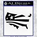 America American Flag Decal Sticker Black Vinyl 120x120