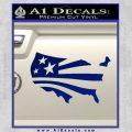 America American Flag Decal Sticker Blue Vinyl 120x120