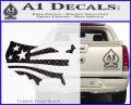 America American Flag Decal Sticker Carbon FIber Black Vinyl 120x97