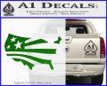 America American Flag Decal Sticker Green Vinyl Logo 120x97