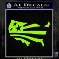 America American Flag Decal Sticker Lime Green Vinyl 120x120
