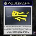 America American Flag Decal Sticker Yellow Laptop 120x120