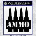 Ammo Text Bullets Clip Decal Sticker Black Vinyl 120x120