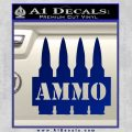Ammo Text Bullets Clip Decal Sticker Blue Vinyl 120x120
