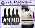 Ammo Text Bullets Clip Decal Sticker Carbon FIber Black Vinyl 120x97