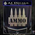 Ammo Text Bullets Clip Decal Sticker Carbon FIber Chrome Vinyl 120x120