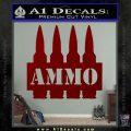 Ammo Text Bullets Clip Decal Sticker DRD Vinyl 120x120