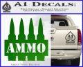 Ammo Text Bullets Clip Decal Sticker Green Vinyl Logo 120x97