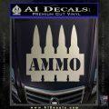 Ammo Text Bullets Clip Decal Sticker Metallic Silver Emblem 120x120