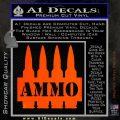 Ammo Text Bullets Clip Decal Sticker Orange Emblem 120x120