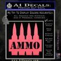 Ammo Text Bullets Clip Decal Sticker Pink Emblem 120x120