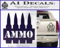 Ammo Text Bullets Clip Decal Sticker PurpleEmblem Logo 120x97