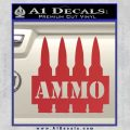 Ammo Text Bullets Clip Decal Sticker Red 120x120
