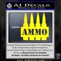 Ammo Text Bullets Clip Decal Sticker Yellow Laptop 120x120