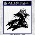 Anime Girl Decal Sticker Black Vinyl 120x120