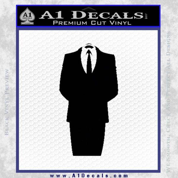 Anonymous Decal Sticker D1 Black Vinyl