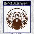 Anonymous Globe Decal Sticker BROWN Vinyl 120x120