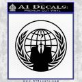 Anonymous Globe Decal Sticker Black Vinyl 120x120