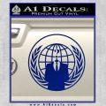 Anonymous Globe Decal Sticker Blue Vinyl 120x120
