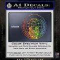 Anonymous Globe Decal Sticker Glitter Sparkle 120x120