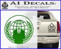 Anonymous Globe Decal Sticker Green Vinyl Logo 120x97