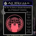 Anonymous Globe Decal Sticker Pink Emblem 120x120