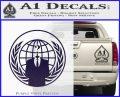 Anonymous Globe Decal Sticker PurpleEmblem Logo 120x97