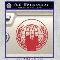 Anonymous Globe Decal Sticker Red 120x120