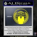 Anonymous Globe Decal Sticker Yellow Laptop 120x120