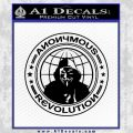 Anonymous Revolution Circle Guy Fawkes Decal Sticker Black Vinyl 120x120
