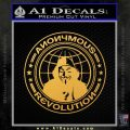Anonymous Revolution Circle Guy Fawkes Decal Sticker Gold Vinyl 120x120