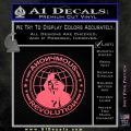 Anonymous Revolution Circle Guy Fawkes Decal Sticker Pink Emblem 120x120