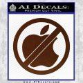 Apple Anti Decal Sticker No Mac BROWN Vinyl 120x120