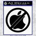Apple Anti Decal Sticker No Mac Black Vinyl 120x120