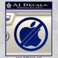 Apple Anti Decal Sticker No Mac Blue Vinyl 120x120