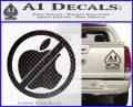 Apple Anti Decal Sticker No Mac Carbon FIber Black Vinyl 120x97