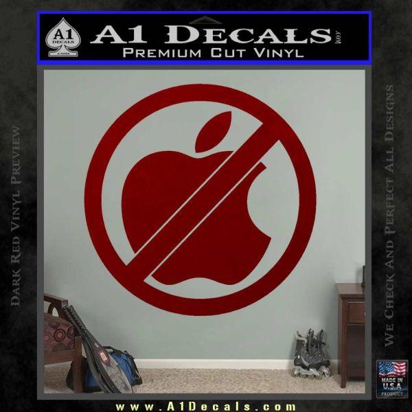 Apple Anti Decal Sticker No Mac DRD Vinyl